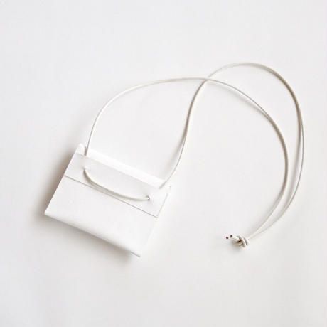 Neck wallet L  #WHITE