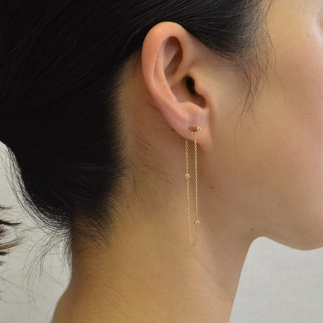 dazzle chain pierce  (diamond / long)