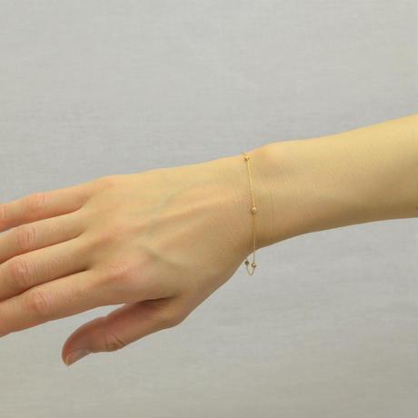 K18 diamond station bracelet