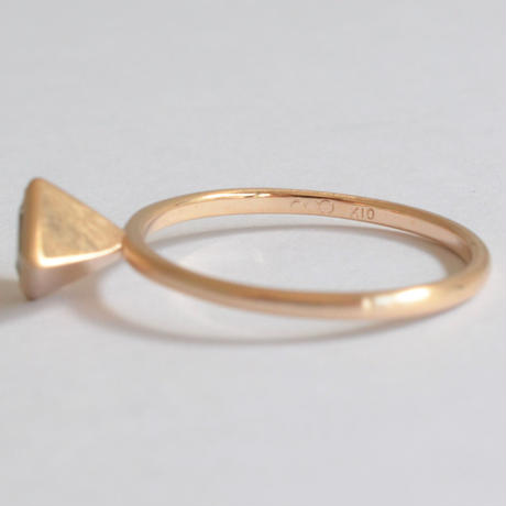 Rhombus Aquamarine ring (5×7mm)