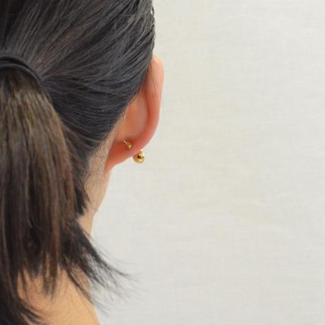 【ORDER】K18 pierced earring (Diagonal / K18 basic clasp)