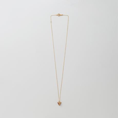 Equilateral triangle Rhodolite Garnet necklace (5mm)