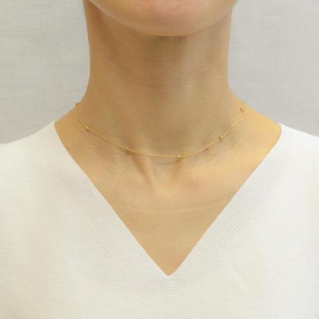 K18 diamond station necklace