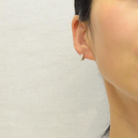 【ORDER】K18WG pierced earring (Diagonal / K18WG basic clasp)