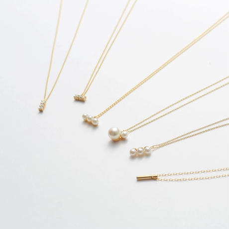 bar  necklace (K10/diamond)