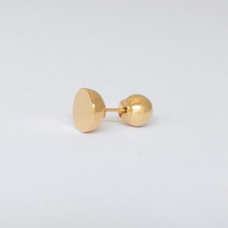 【ORDER】K18 pierced earring (Horizontal / K18 sphere clasp)