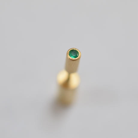 K18 rivet emerald pierce