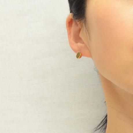 K18 pierced earring (Diagonal / Akoya pearl clasp)