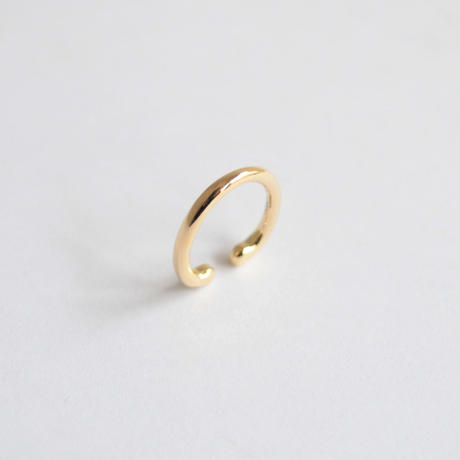 Oval ear cuff (vertical / K10)