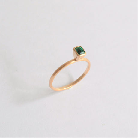 Square Emerald ring (3.6×3.2mm)