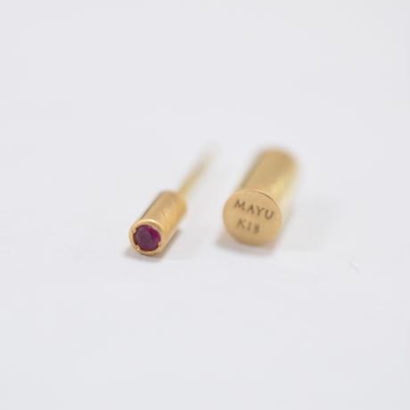 K18 rivet ruby pierce