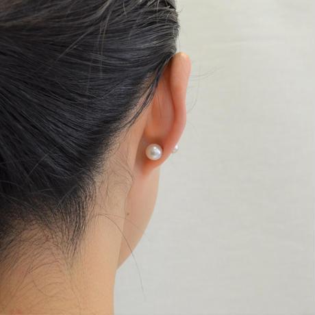 PEARL RIVETS(6mm pearl × 8.0-8.5mm Akoya pearl)