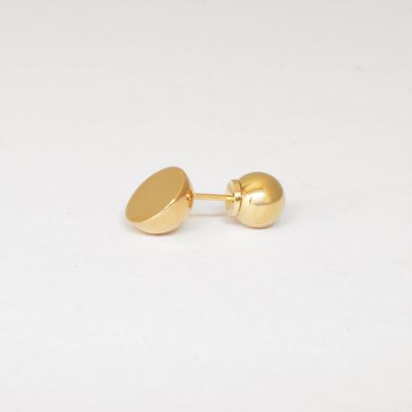 K18 pierced earring (Diagonal / K18 sphere clasp)