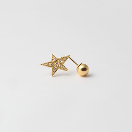 star pierce ( diamond / K18 /reversible / pave)