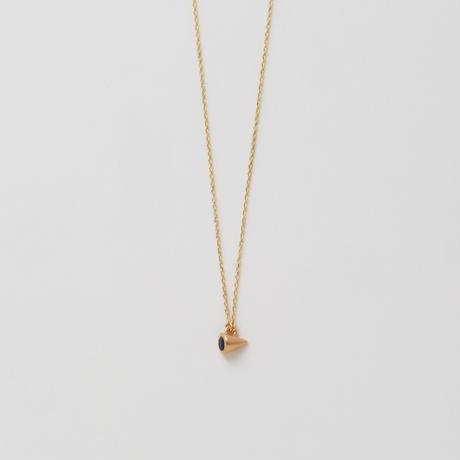 Round Sapphire necklace (3mm / horizontal)