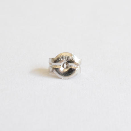【ORDER】K18WG pierced earring (Horizontal / K18WG basic clasp)