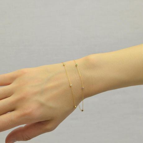 K18 multi color station bracelet