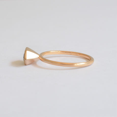 Polygon Tourmaline ring (4×9mm)