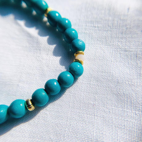 【for  Mum and Girl】Green woodbeads  pair bracelet