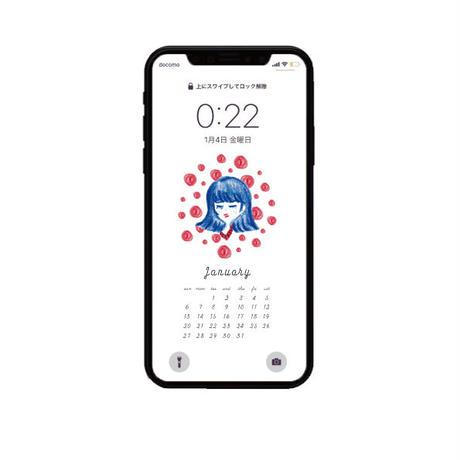 2019 January calendar 〰︎ iPhone用
