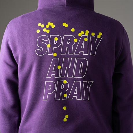 【期間限定】SPRAY AND PRAY HOODIE PURPLE