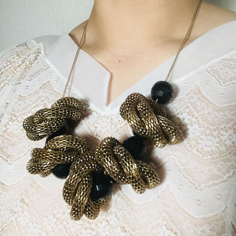 Vintage Necklace  Black/ Gold《送料無料》