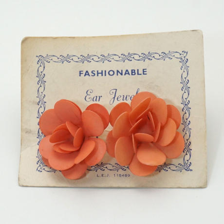 Maybe 50s Flower Earings Pink 《送料無料》 (no.196)