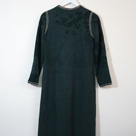 60s Aclyic wool Green Dress  (no.214)