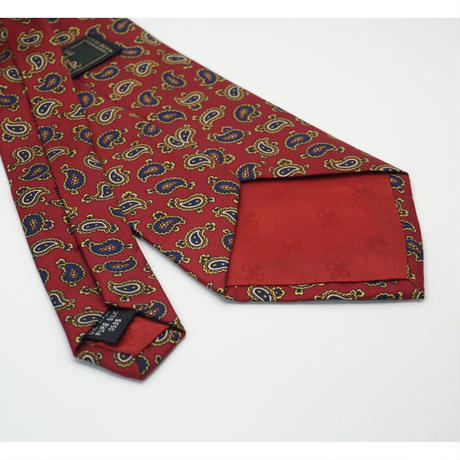 《送料無料》Vintage Paisley Silk Tie Red   (no.291)