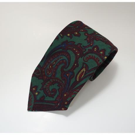 《送料無料》Polo by Ralph Lauren Wool Paisly Green Tie (no.321)