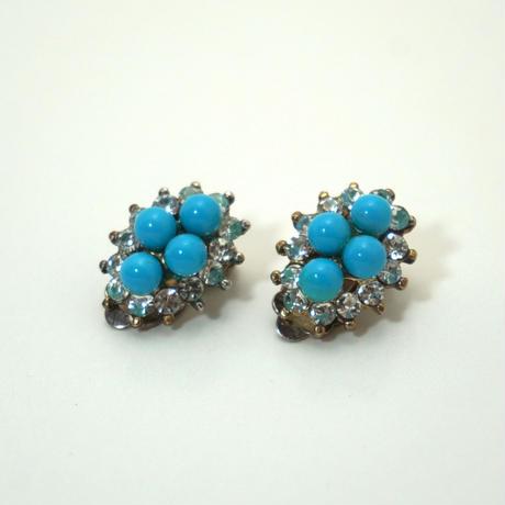 Vintgae Clip-on Earrings  Turquoise blue《送料無料》