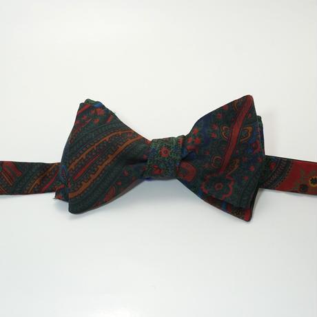 《送料無料》Vintage Paisley  Bow tie Silk  (no.312)