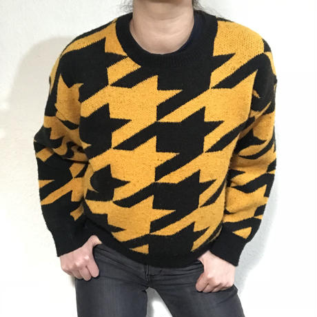 80s style Jumper Yellow Black  (no.281)