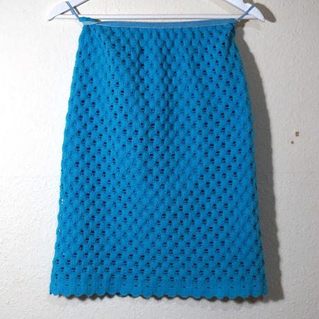 60s Knitting Set-up Sky blue  (no.407)