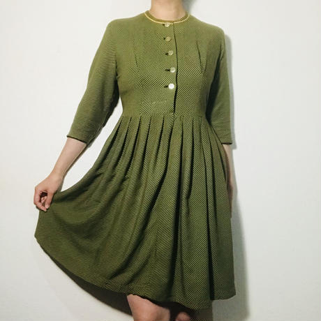 1920s Work Dress Green