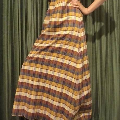 1970s Cotton Maxi Dress