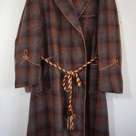 Dressing Gown Wool Brown  (no.279)