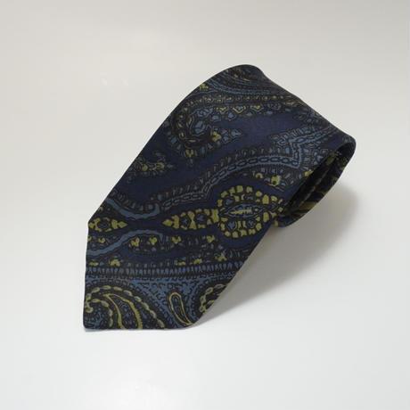 《送料無料》Vintage Gieves Silk Paisely Navy Tie (no.320)