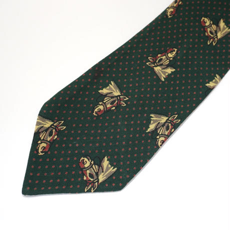 《送料無料》Tootal / Sports quality  Hourse Green Tie (no.329)