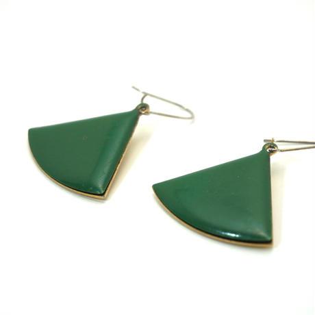 〈Costume jewelry〉60-80s  Pierced Earrings Grenn/ Gold《送料無料》
