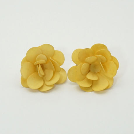 Maybe 50s Flower Earings Yellow 《送料無料》 (no.195)