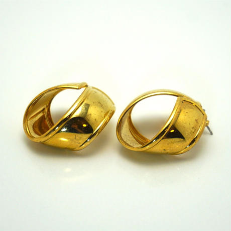 〈Costume jewelry〉60-80s  Pierced Earrings  Gold《送料無料》