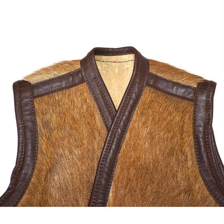 Vintage Horsehair leather vest  Maybe American