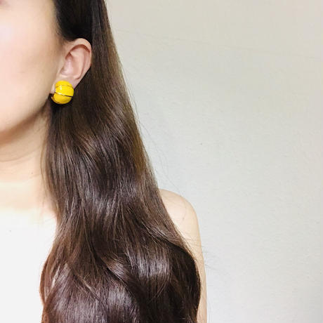 Maybe 80s Yellow Clip-on 《送料無料》 (no.256)