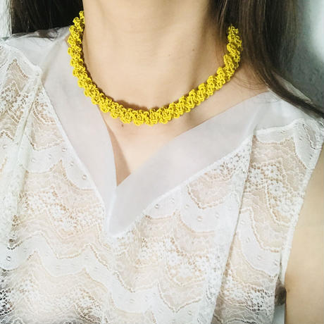 60-70s Vintage Necklace  Yellow《送料無料》