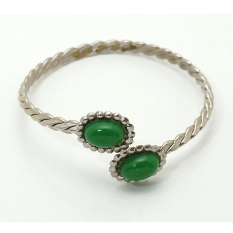 Silver Green Bracelet  《送料無料》(no.298)