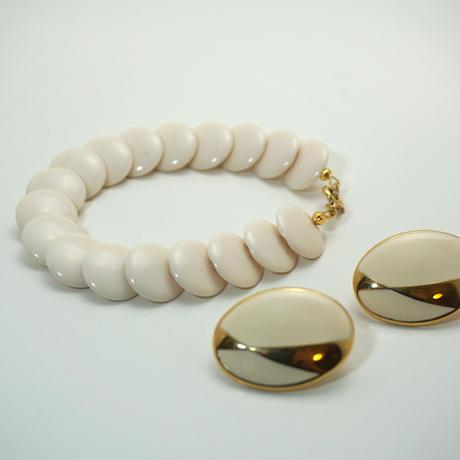 〈Costume jewelry〉60-80s Bracelet  White《送料無料》