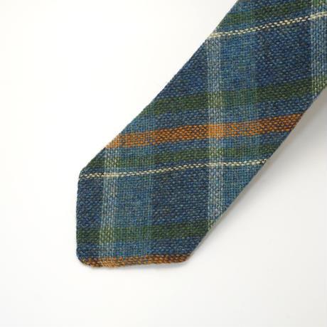 《送料無料》Vintage Shetland Tweed bluegreen Tie (no.325)