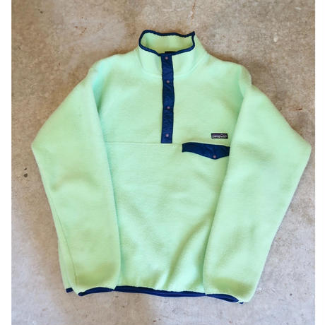 90's Patagonia Snap-T Lime Green