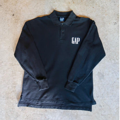 90's OLD GAP Embroidery L/S Polo Shirt